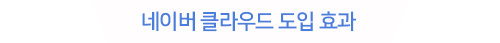 네이버 클라우드 도입 효과